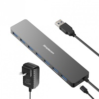 Product Image of Simplecom CH372PS Ultra Slim Aluminium 7 Port USB 3.0 Hub with Power Supply